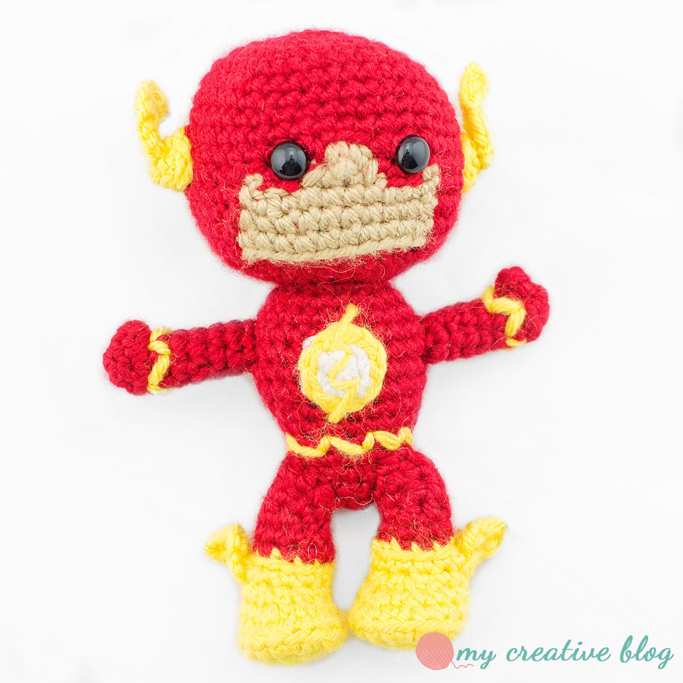The Justice League: The Flash – Crochet Pattern – My Creative Blog