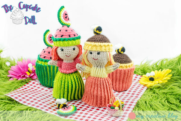 Summer Cupcake Dolls - Knit and Crochet Patterns
