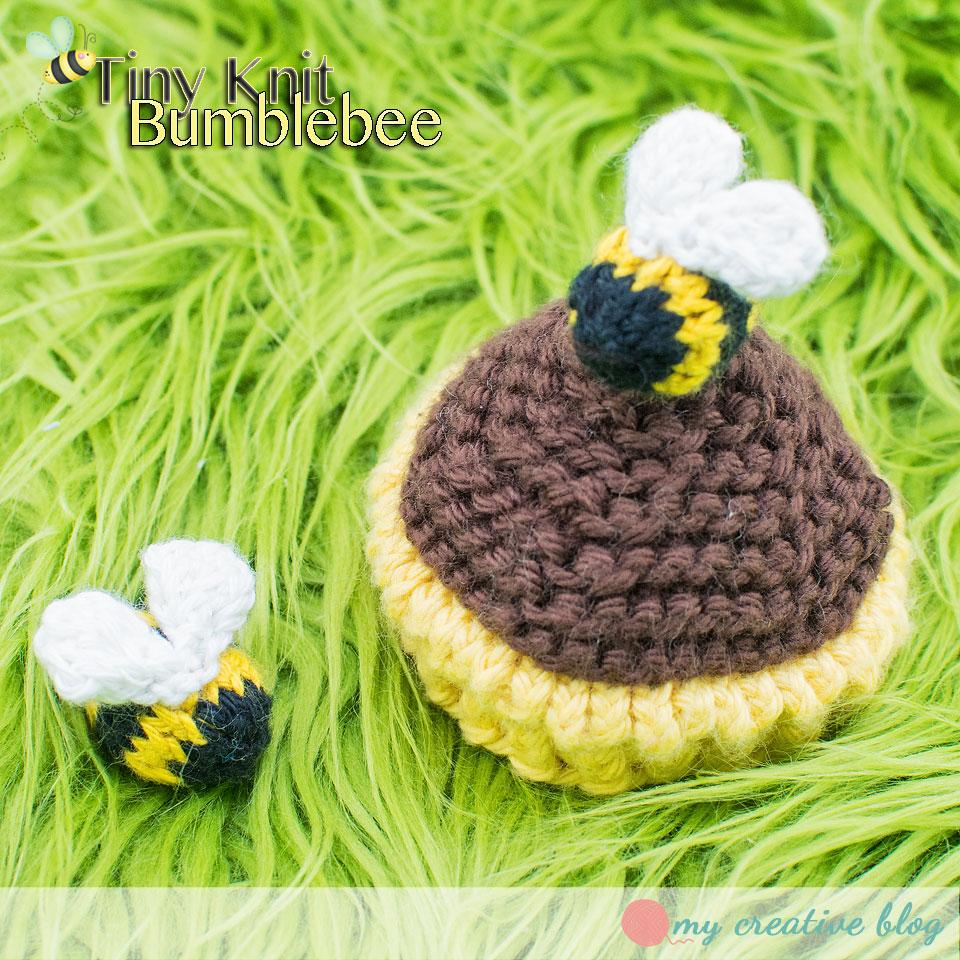 Teeny Tiny Knit Bumblebee – Knit Pattern – My Creative Blog
