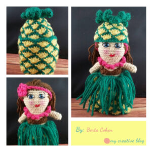Berta Cohen - Hawaiian Pineapple Doll