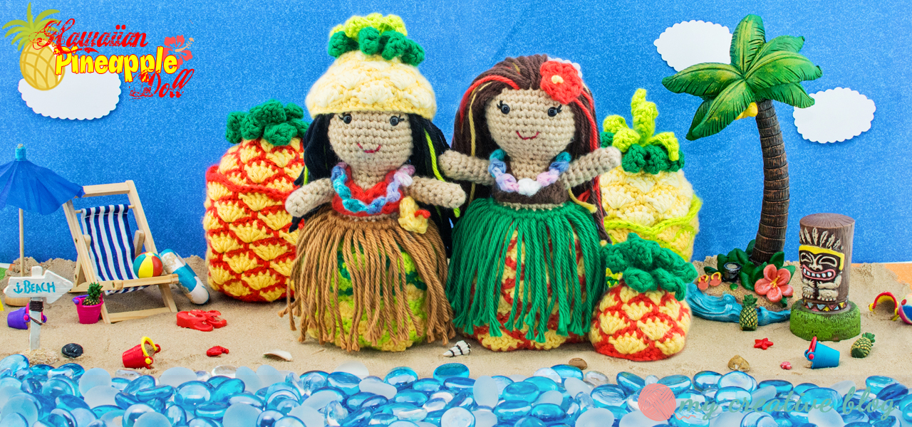 Hawaiian Pineapple Doll - Crochet Pattern