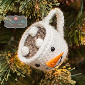 Snowman Mug Ornament - Crochet Pattern