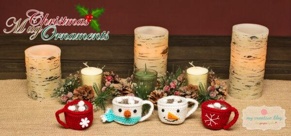 Christmas Mug Ornaments - Crochet Pattern
