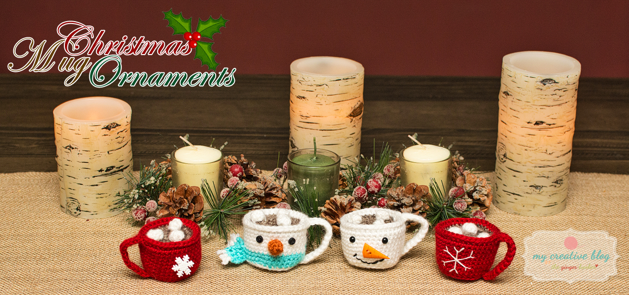 Christmas Mug Ornaments - Crochet Pattern