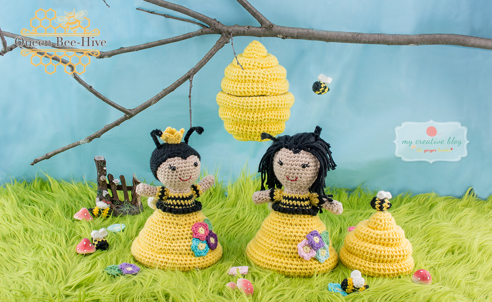 Queen Bee-Hive Doll - Crochet Pattern