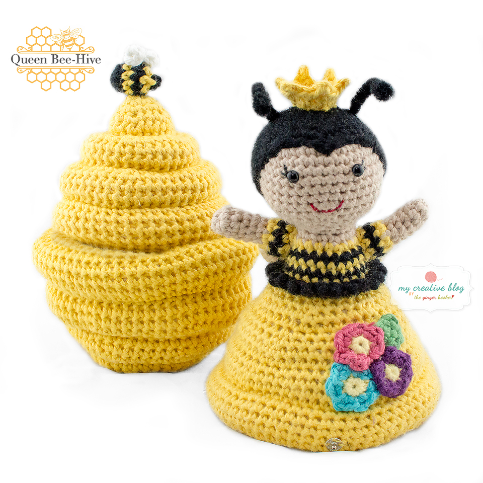 SET: Bee and beehive amigurumi pattern - Amigurumipatterns.net | 960x960