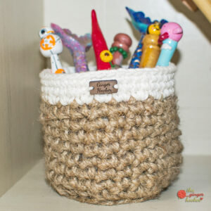 Jute Cotton Basket - Crochet Pattern