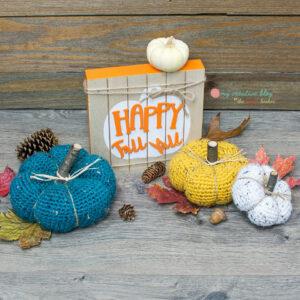 Chunky Rustic Pumpkins - Crochet Pattern