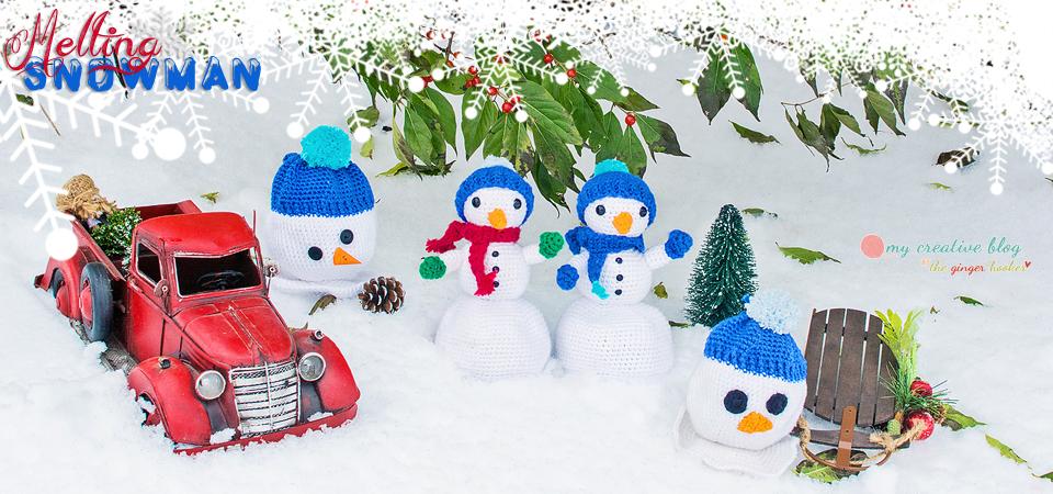 Melting Snowman Doll - Crochet Pattern