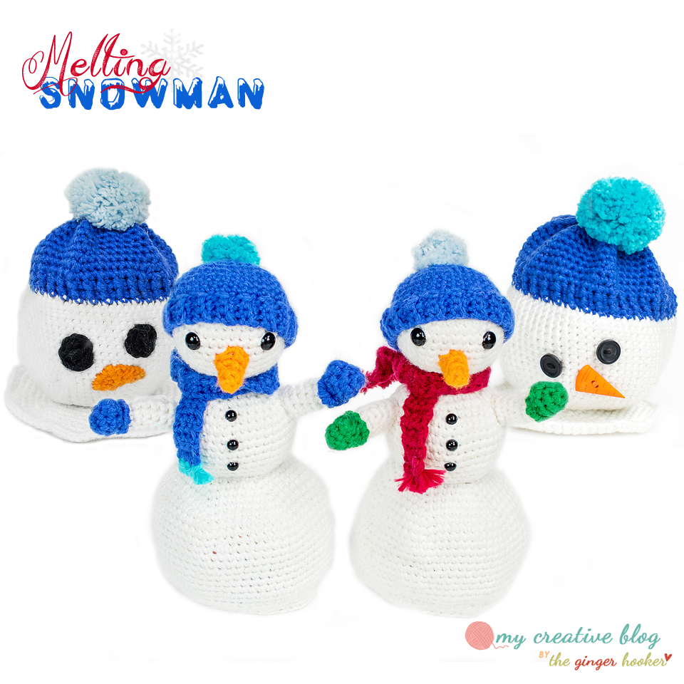 Melting Snowman Doll – Crochet Pattern – My Creative Blog